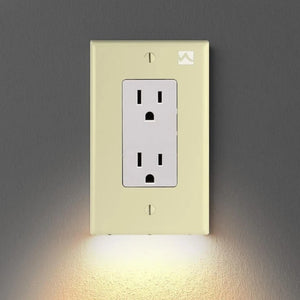 SnapPower Lighting For Outlets Wall Plate With LED Night ConnectLights