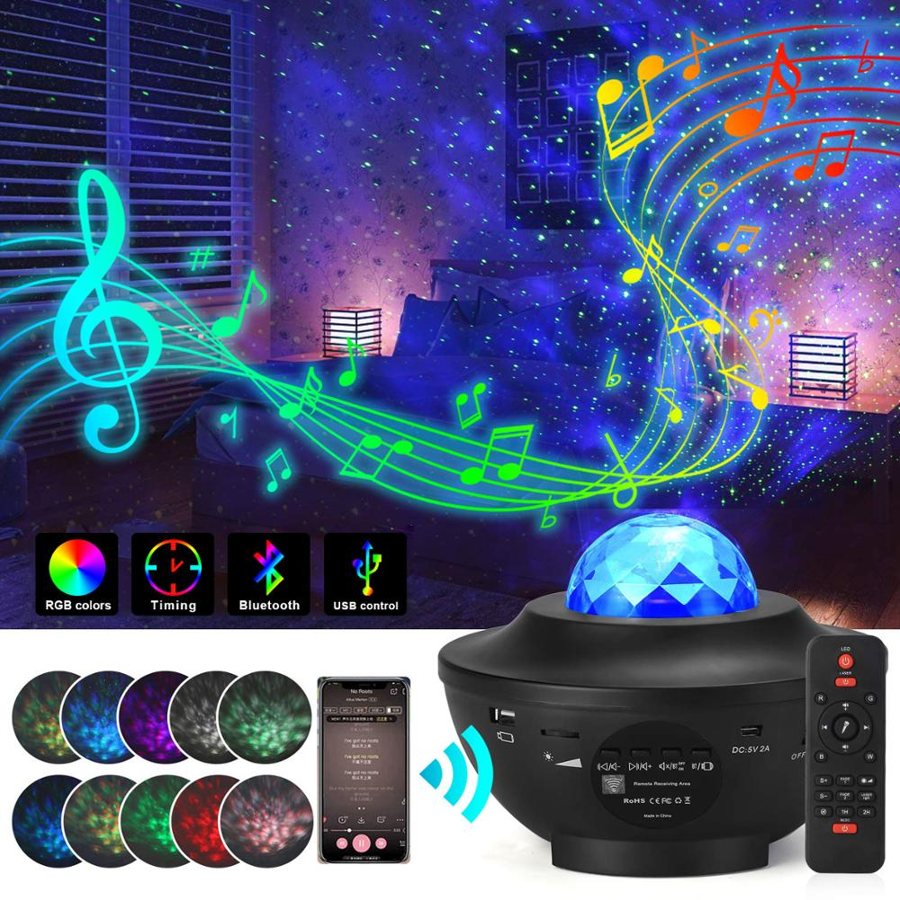 Galaxyglo Projector Pulse Lights- Gallatix Starry Night Bluetooth Speaker