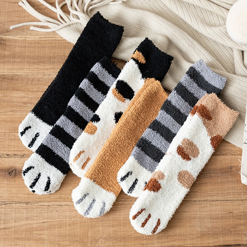 Winter Women's Cat Claw Socks