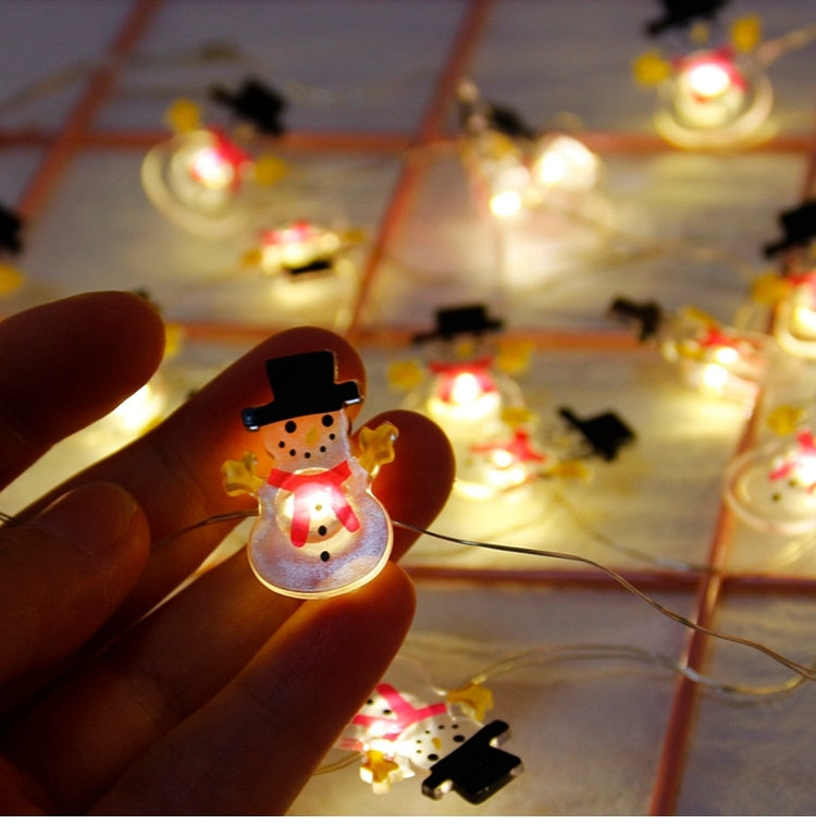 Snowman Christmas Tree LED String Lights - Snowflake Stringers