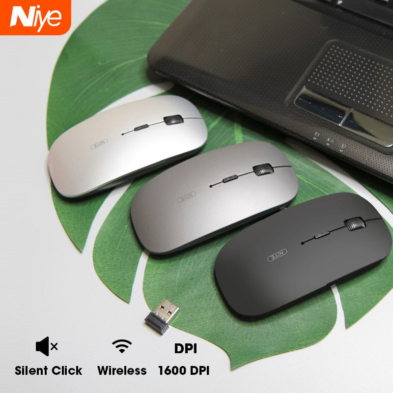 2.4G Slim Silent Bluetooth Wireless Mouse