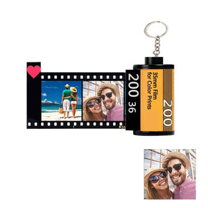 Custom Camera Film Roll Keychain Valentine's Gift