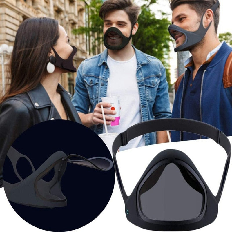 Silicone Detachable Transparent Anti-Fog Shield Mask