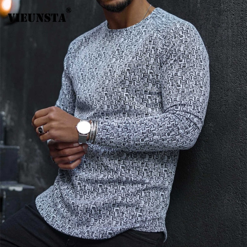 Casual Round Neck Long Sleeve T-shirt