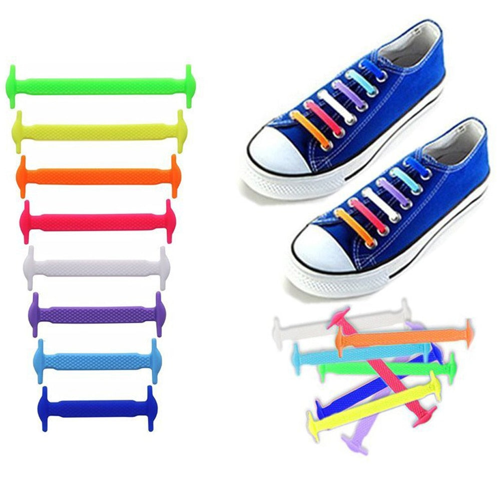 16Pcs LazyLacey No-Tie Silicone Elastic Shoelaces