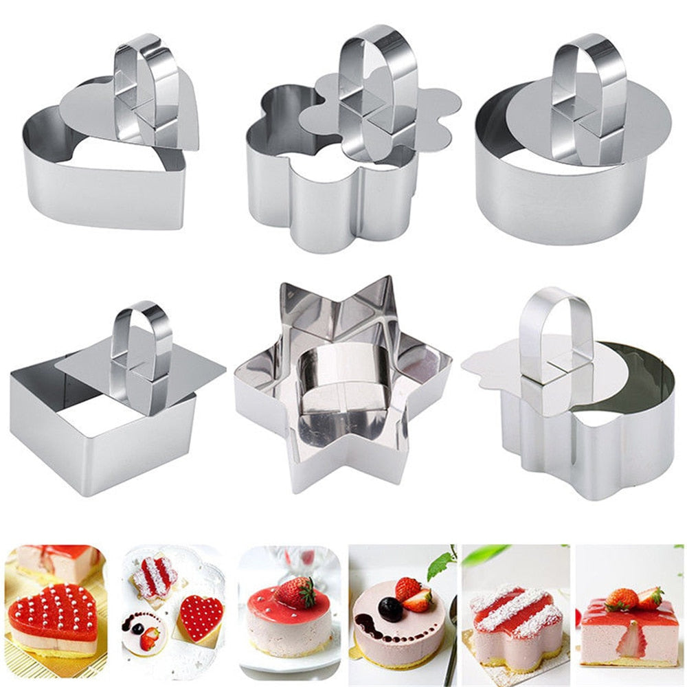 Stainless Steel 3D Mini Cake Molds