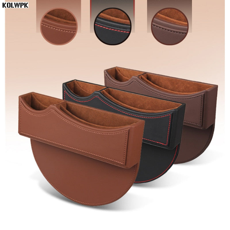 Car Stylish PU Leather Seat Gap Organizer