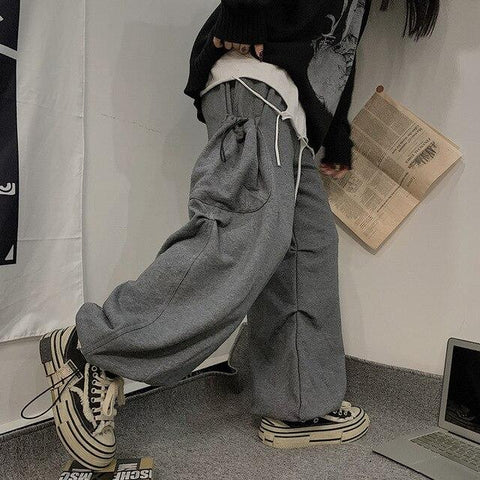 Unisex Draw String Loose Cargo Pants
