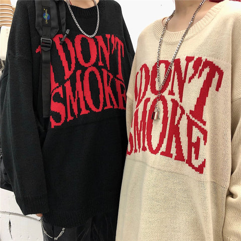 """I Don't Smoke"" Knit Sweater"