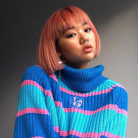 """Lazy"" Thick Knit Turtleneck"