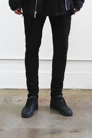 Slim Mid Waist Denim With Long Side Zippers