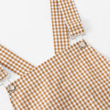 Yellow Plaid Overall Skirt