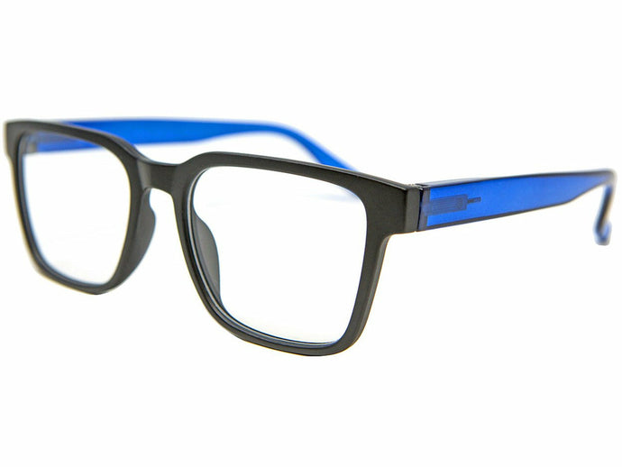 Leeds Black Blue Reading Glasses