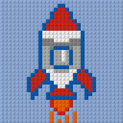 PIXART -  Rocket - 10x10 - lovepixart.com - kids