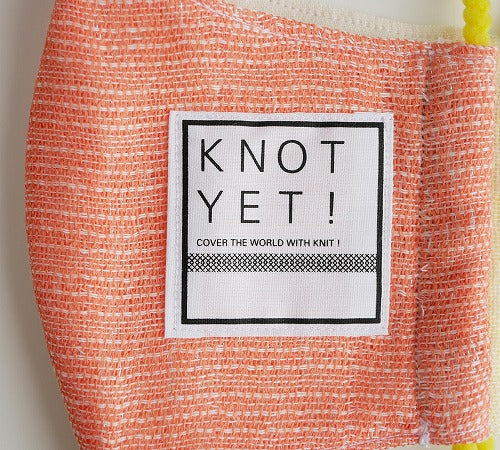 KNOT YET!:KNOT YET!の和紙ガーゼマスク[c/#A] Lサイズ/KY-MASK-K-001L