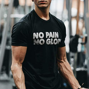 Bodybuilding Shirts for Men - Motivational Gym Muscle - Rise & Grind (M)