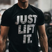 Load image into Gallery viewer, Bodybuilding Shirts for Men - Motivational Gym Muscle - Rise & Grind (M)