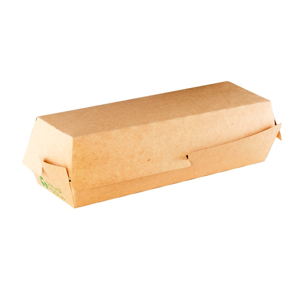 CLAMSHELL KRAFT HOTDOG 22CM NATURAL PACK (370 UN.)