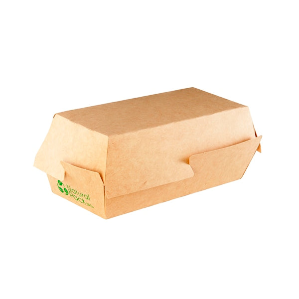 CLAMSHELL KRAFT HOTDOG 15CM NATURAL PACK (350 UN.)