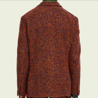 wool-blend boucle blazer ss 2. blue, orange, yellow. - UP! town lisboa