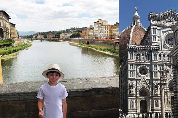 Picture of Jack, Nesso founder, in Italy, close to where Nesso's goods are sourced from