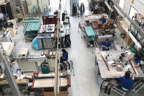 Picture of the craftsman workshops where all of Nesso's goods are made by hand in Italy