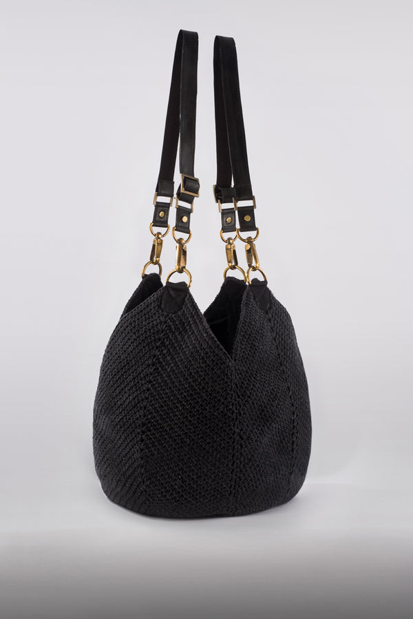 The Lotus Bag / Charcoal
