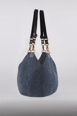 The Lotus Bag / Denim Blue