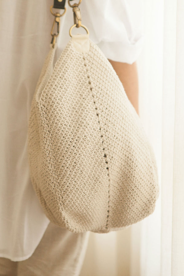 The Lotus Bag / Natural Ecru
