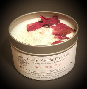 Magical Candle - Romantic Rose with dried rose petals