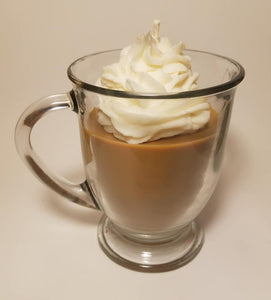 Specialty Candle - Irish Coffee with whipped topping.