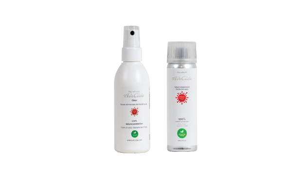 AirCide Clear 95 ml + AirCide Regular, 65 ml. Together you pay less.