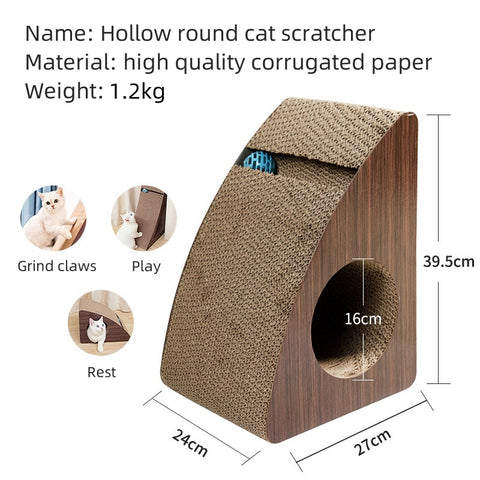 Cat Scratcher Cat Toys Scratch Cardboards Scratching Pad Scratchy Box Reversible Recycle 100%
