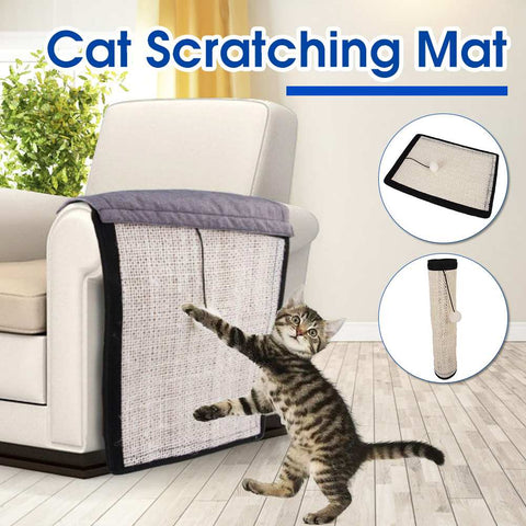 Foldable Cat Scratching Post Mat Cat Scratcher Couch Sofa Protectors Washable