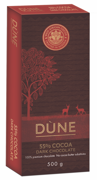 DÙNE 55% COCOA DARK CHOCOLATE, 500g