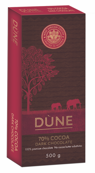 DÙNE 70% COCOA DARK CHOCOLATE, 500g