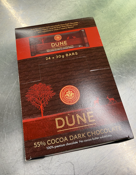 DÙNE 55% COCOA DARK CHOCOLATE, (30g x 24)