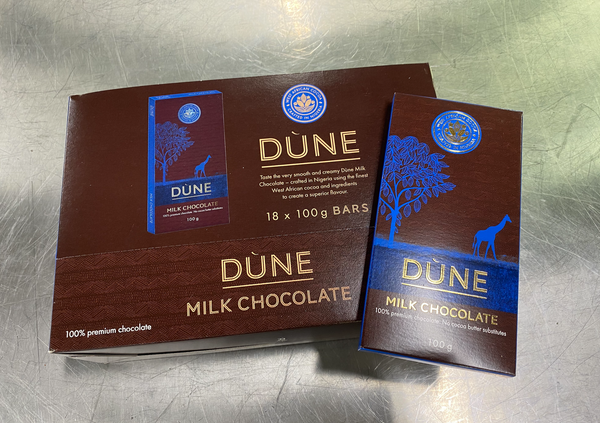 DÙNE MILK CHOCOLATE, (100g x 18)