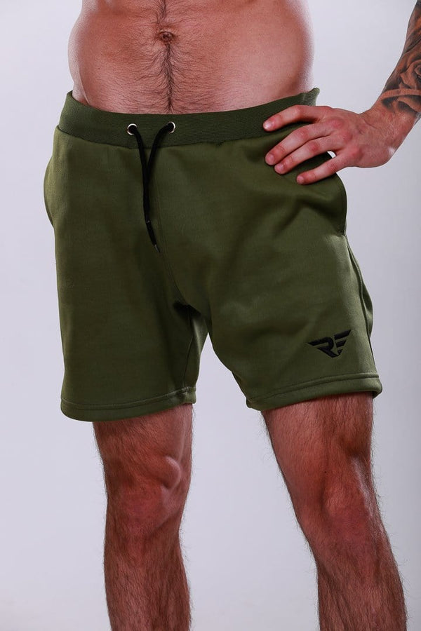 Leg Day Workout Shorts - Army/Black