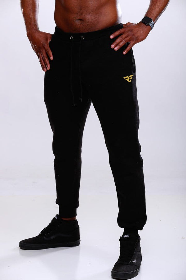 Premium Cool Chillin' Joggers - Black/Gold
