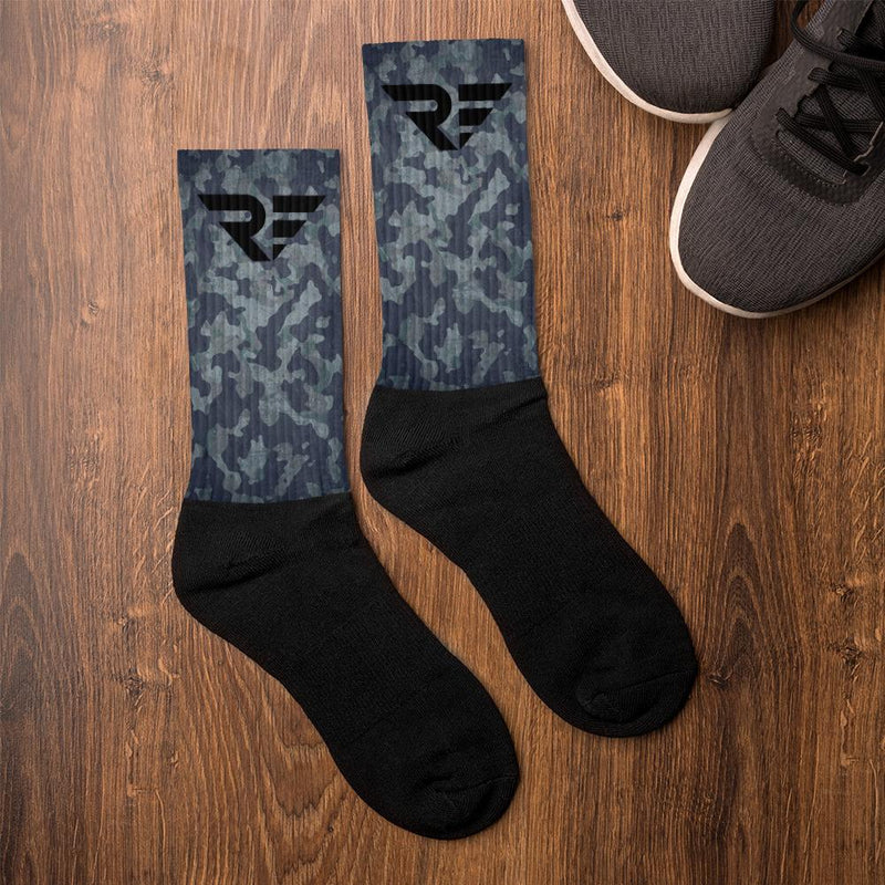 """Black Camo"" Revolutionary Fitness Socks"
