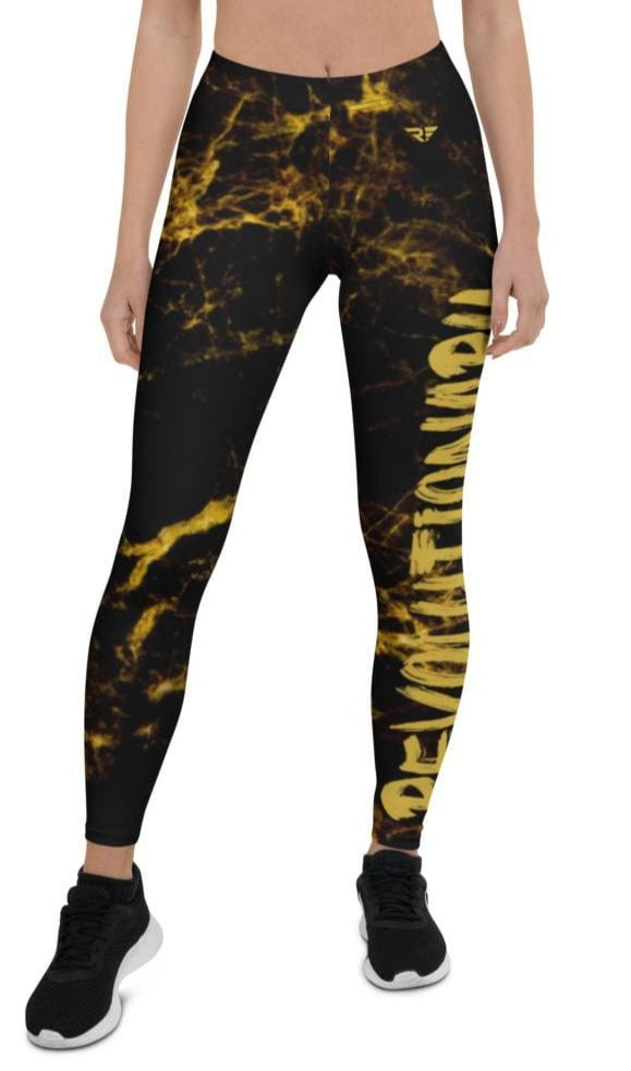 Black and Gold - Revolutionary Fitness Leggings