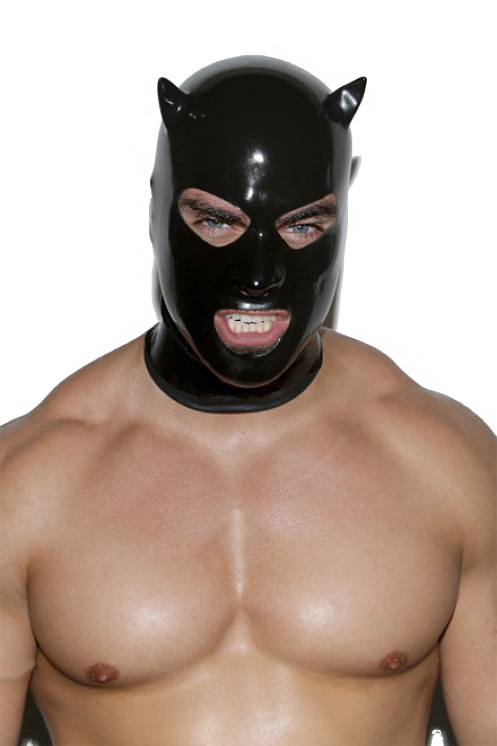 Limited Edition Black Devil Latex Mask