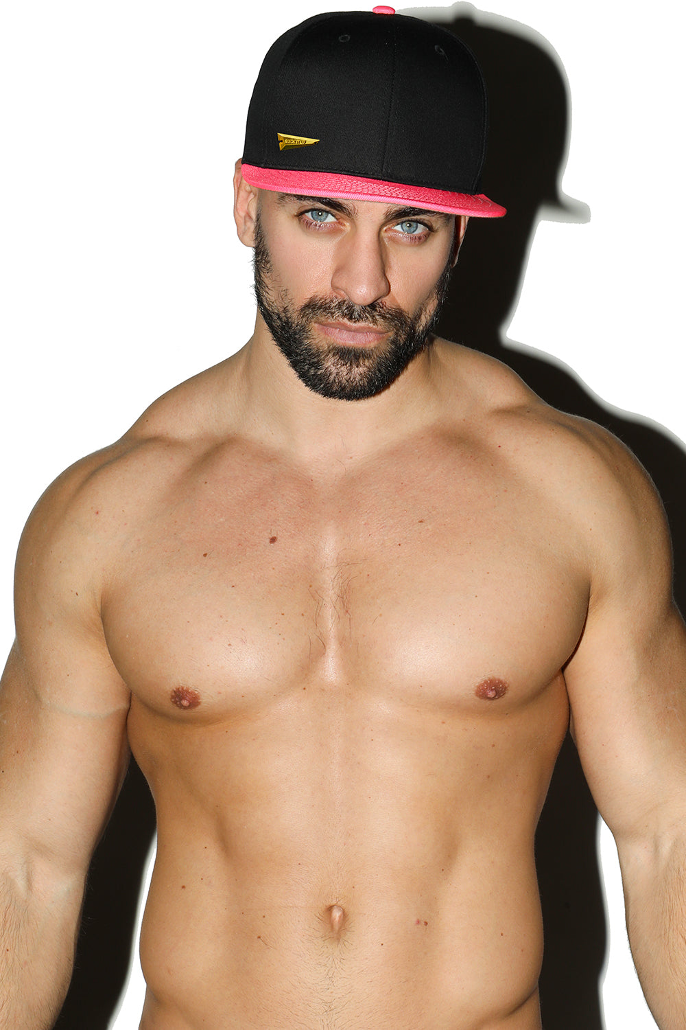 Neon Pink and Black Snap Back Hat