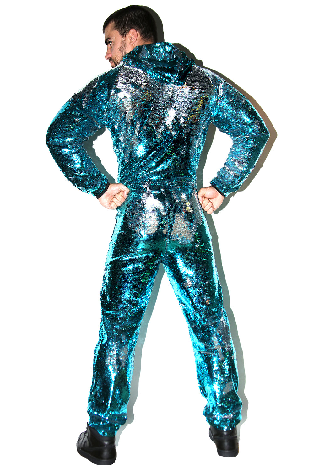 Stroke and Change Human Disco Ball Jumpsuit