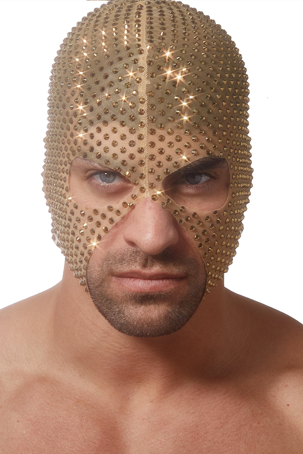 Golden Diamond Studded Hood