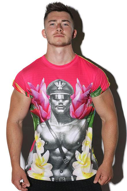 "Tom of Finland® Collaborative ""Tropical Tee"" - Slick It Up"