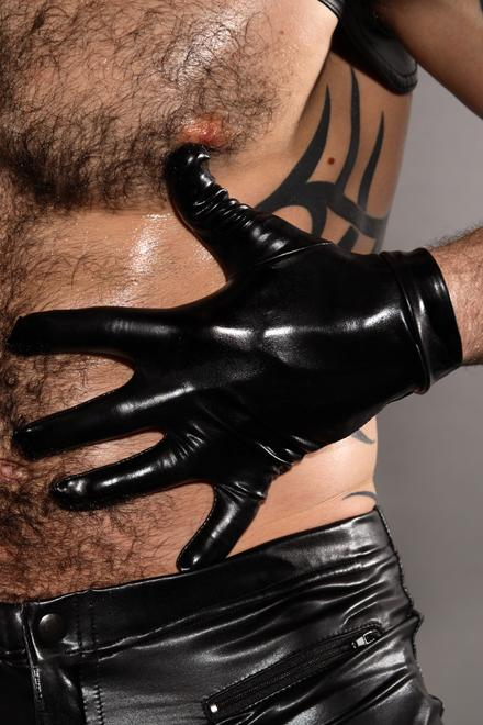 Leather Look Gloves - Slick It Up