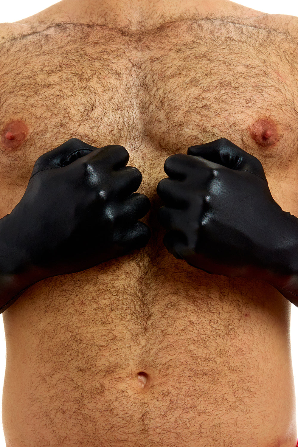 LEATHER-LOOK LONG GLOVES