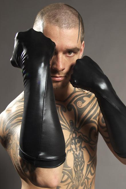 LEATHER-LOOK LONG GLOVES - Slick It Up